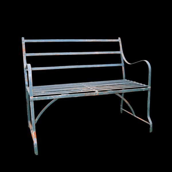 Game bench 2 seater strapwork Regency / Victorian style