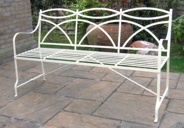 3 seater Regency / Victorian strapwork garden bench