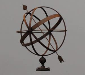 60 cm Armillary Sphere Sundial with arrow