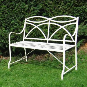 2 seat Regency style strapwork bench