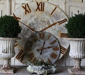 Round large decorative clock faces