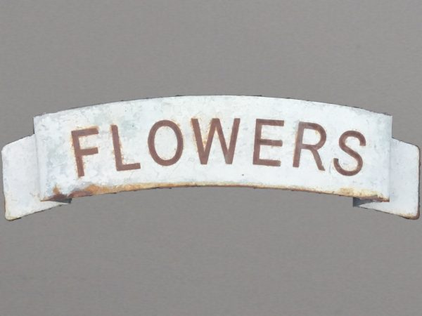 Scrolled Flowers sign