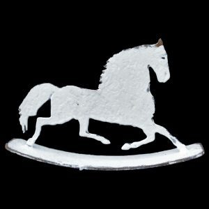 Metal profile of a galloping horse on rocker, 2 standard sizes available