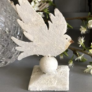 Medium size metal dove on square stand