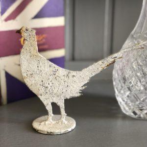 Mini metal pheasant ornament