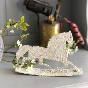Mini size galloping horse on rocker