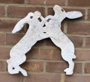 Pair of wall mounting boxing hares