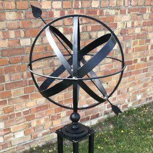 50cm ( 20 inch ) diameter armillary sundial 4 or 5 ring