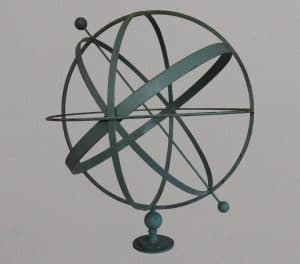 75cm Armillary light green distressed