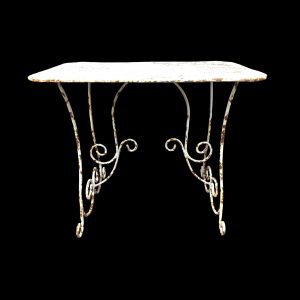 Arras style metal rectangular table