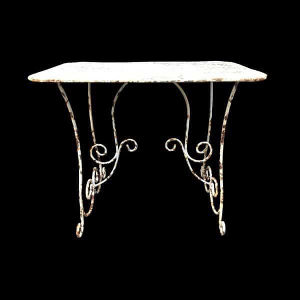 Arras style metal rectangular table