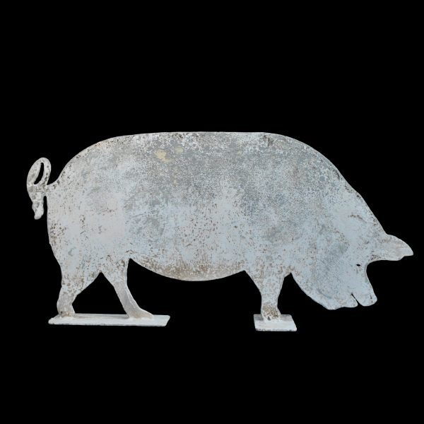 Life size metal profile of a pig
