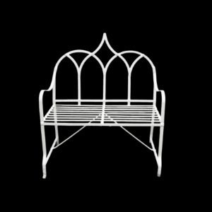 Gothic prior style garden bench