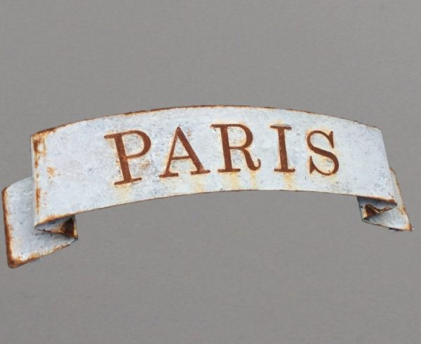 Scrolled Paris sign