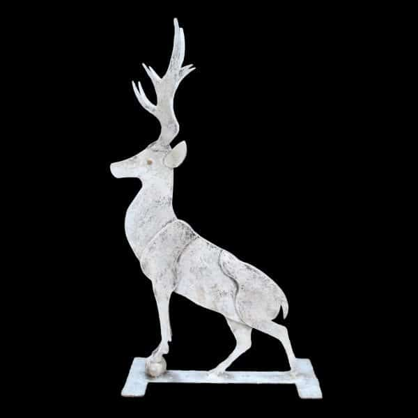 Large 8 piece metal profile of a standing stag