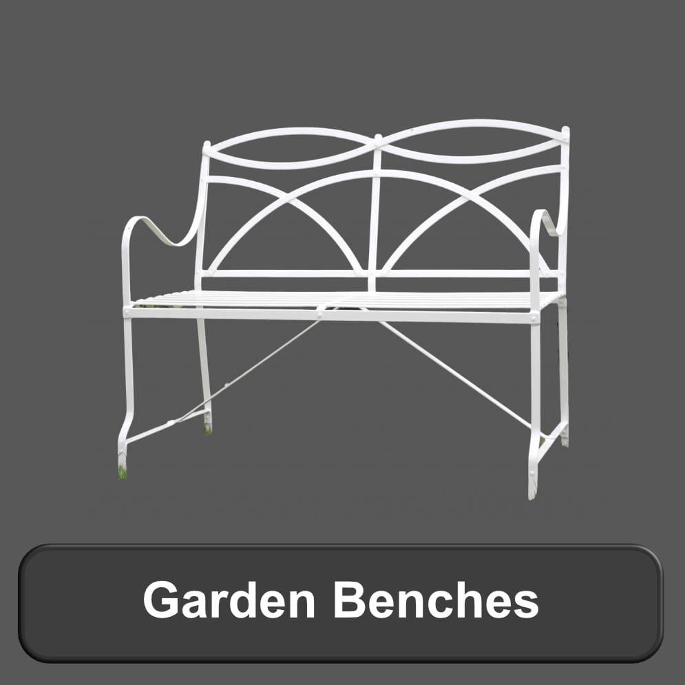 Metal Antique Style Garden Benches