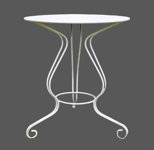 Medium size round wrought iron table