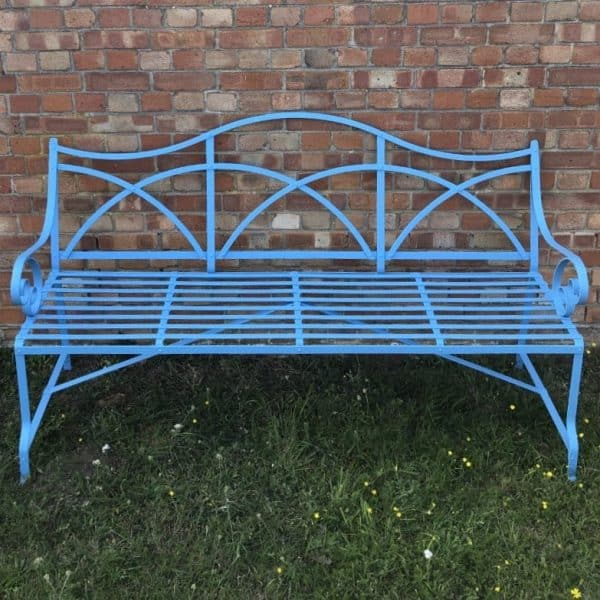 Victorian / Regency 3 to 4 seater strapwork bench