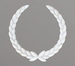 Metal laurel wreath 70cm