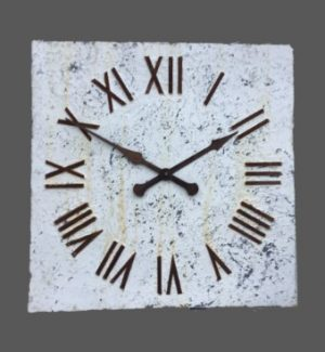 Square large decorative clock faces