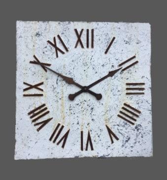 Square large decorative clock faces