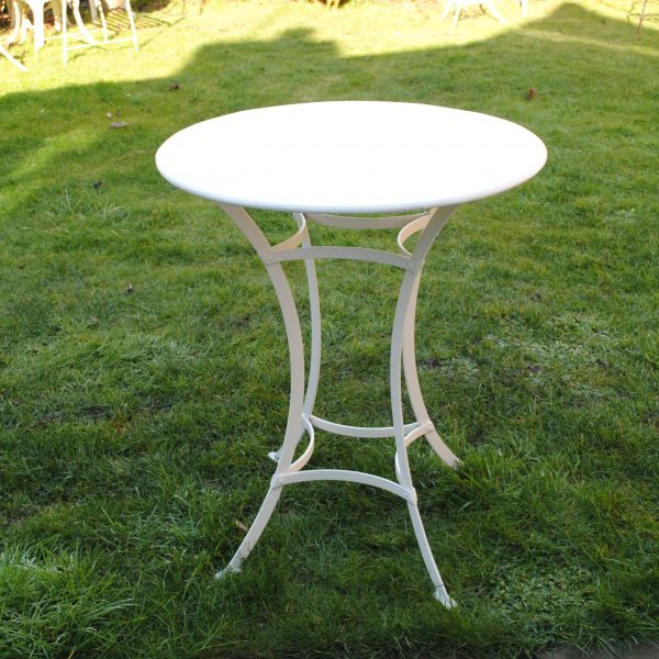 Small round strapwork table