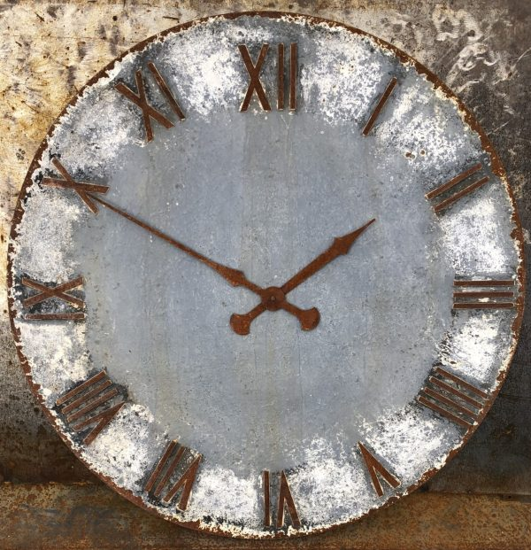 115cm dia painted and distressed clock face