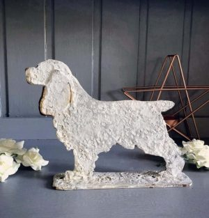 Mini size metal cocker spaniel ornament